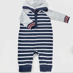 Oshkosh bgosh striped footless baby romper